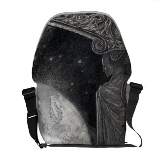 """""""Earth and the Milky Way"""" messenger bag"""