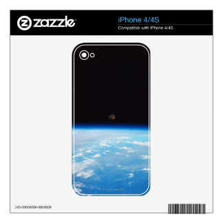 Earth and the Moon Decals For The iPhone 4S
