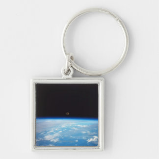 Earth and the Moon Keychains