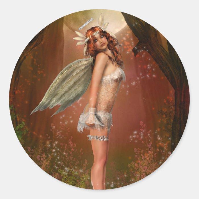 Earth Angel Classic Round Sticker