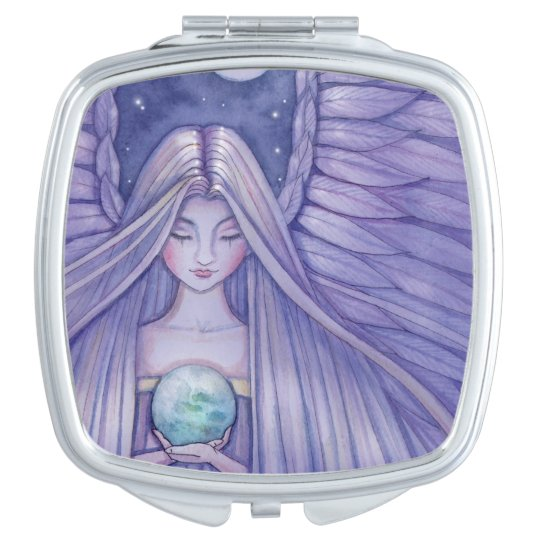 Earth Angel Fantasy Art Mirror For Makeup Zazzlecom