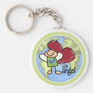 Earth Angel green keychain