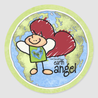 Earth Angel green sticker