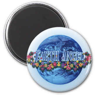 Earth Angel 2 Inch Round Magnet
