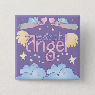 Earth Angel Pinback Button
