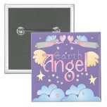 Earth Angel Pinback Buttons
