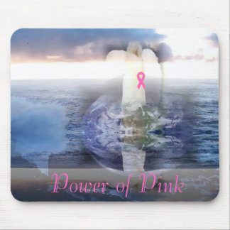 Earth Angel Pink Ribbon Mouse Pad