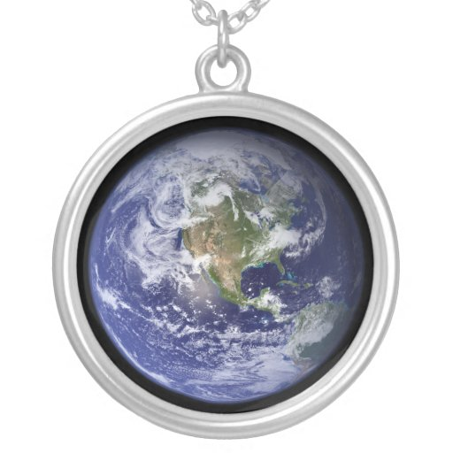 Earth - another version round pendant necklace