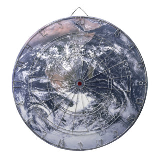 Earth - Apollo 17 Photo Dartboard With Darts