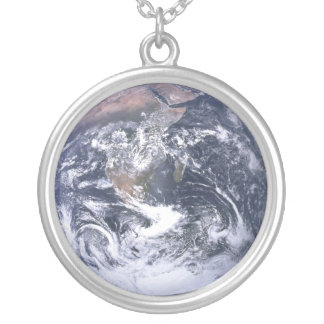 Earth - Apollo 17 Photo Silver Plated Necklace