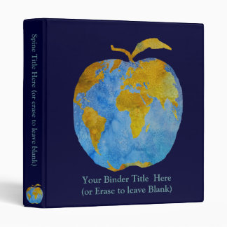 Earth Apple 3 Ring Binder