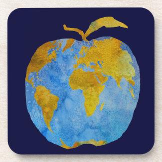 Earth Apple Beverage Coaster