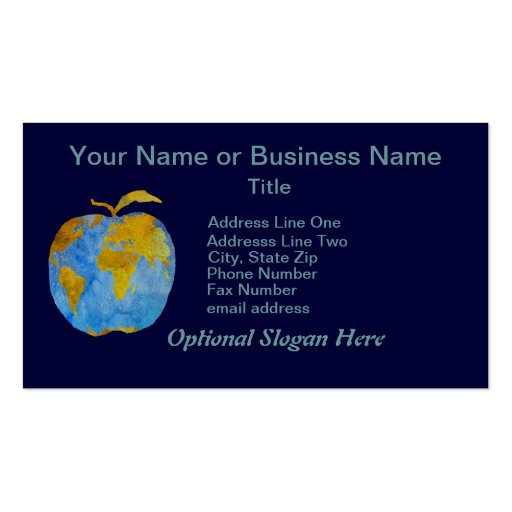 Earth Apple Business Cards
