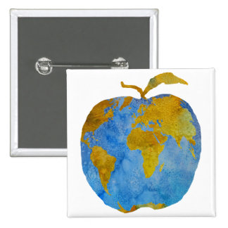 Earth Apple Pinback Button