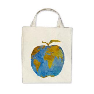 Earth Apple Canvas Bag