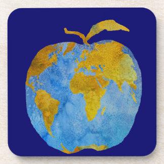Earth Apple Drink Coaster