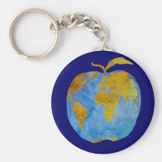 Earth Apple Keychain
