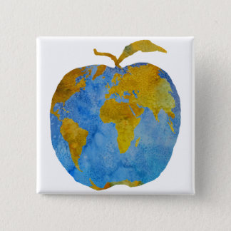 Earth Apple Pinback Button
