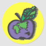 Earth Apple Stickers