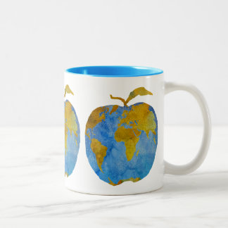 Earth Apple Two-Tone Coffee Mug