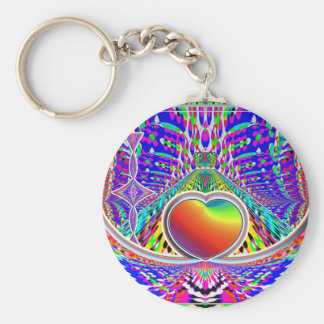 eARTh ART heART Rainbow Fun Keychain