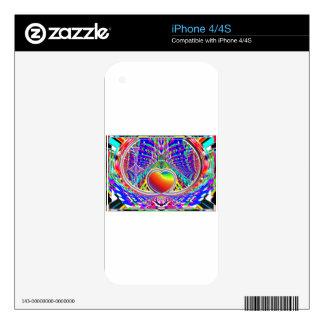 eARTh ART heART Rainbow Fun Skins For iPhone 4S
