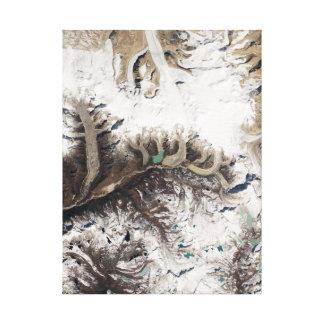 Earth Art in Bhutan Gallery Wrapped Canvas