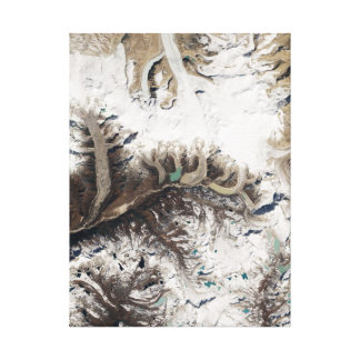 Earth Art in Bhutan Canvas Print