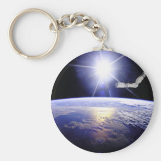 Earth as Seen from the Space Station Basic Round Button Keychain