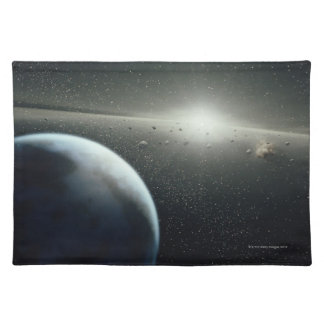 Earth, Asteroid Belt and Star Cloth Placemat