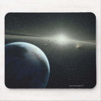 Earth, Asteroid Belt and Star Mouse Pad