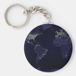 Earth at Night Keychain
