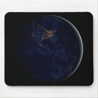 Earth at Night Mouse Pad