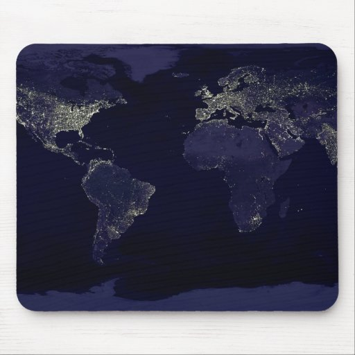 Earth at Night Mouse Pads