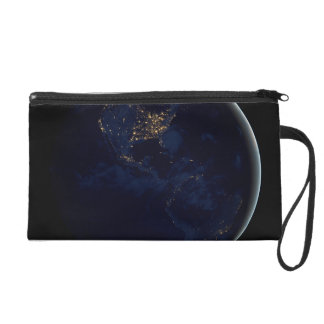 Earth at Night Wristlet