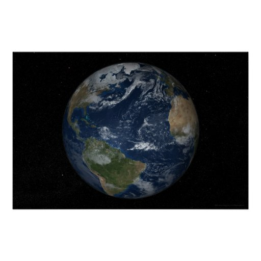 Earth Atlantic View 78x52 (60x40) Posters