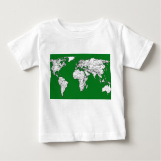Earth atlas green baby T-Shirt