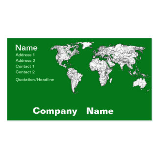 Earth atlas green business cards