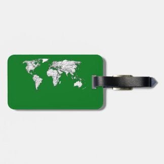 Earth atlas green tag for bags