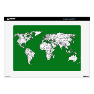 """Earth atlas green decal for 15"""" laptop"""