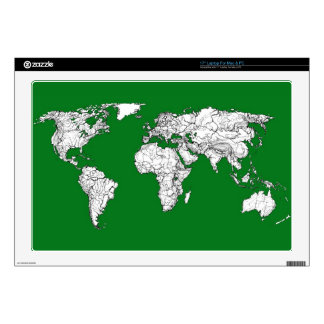 """Earth atlas green decal for 17"""" laptop"""