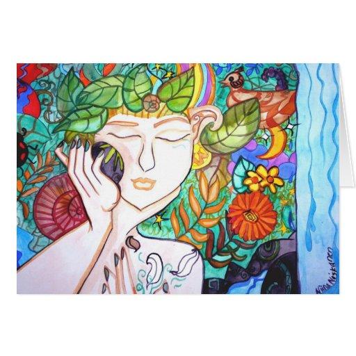 Earth awakening Greeting card