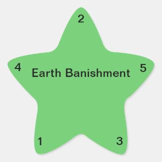 Earth Banishment Star Stickers