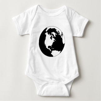 Earth - Black and White Baby Bodysuit