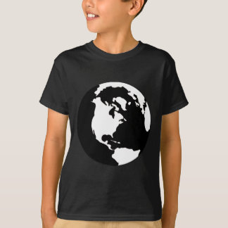 Earth - Black and White T-Shirt