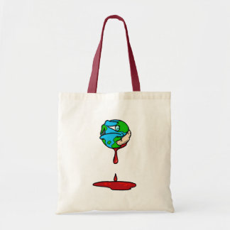 Earth (Bleeding) Tote Bags