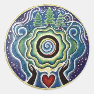 Earth Blessings Mandala  Sticker