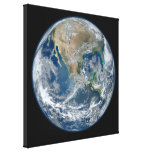 Earth blue marble Wrapped Canvas Canvas Print
