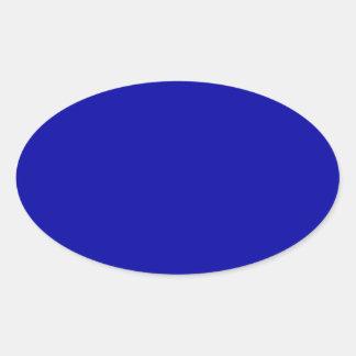 Earth Blue Oval Sticker