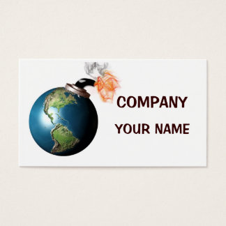 Earth bomb business card